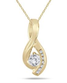 1/2 Carat TW Diamond Twist Pendant in 10K Yellow Gold