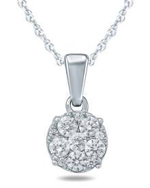 1/8 Carat TW Diamond Pendant in 10K White Gold