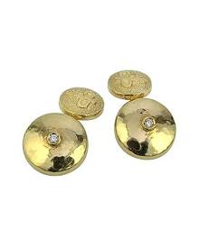 Torrini 18K Yellow Gold Diamond Cufflinks