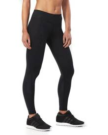 2XU Mid-Rise Womens Full Length Compression Tights - Dotted Black Logo