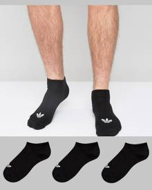 adidas Originals 3 Pack Sneaker Socks In Black S20274 - Black
