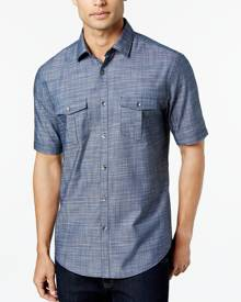 Alfani Short Sleeve Warren Textured Shirt, Only at Macy's