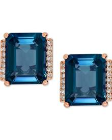 Macy's Amethyst (4-1/5 ct. t.w.) and Diamond Accent Stud Earrings in 14k Gold