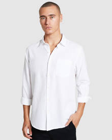 Arvust - Grover Long Sleeve Linen Shirt White