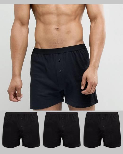 ASOS Jersey Boxers 3 Pack In Black - Black