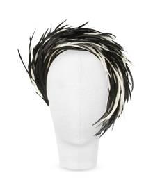 Nana' Aurora - Black and White Feather Headband