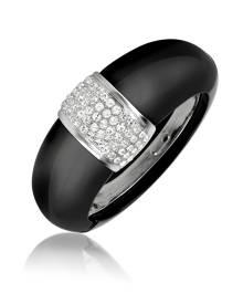 AZ Collection Designer Bracelets, Black Bangle Bracelet
