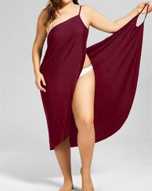 Rosegal Beach Cover-up Plus Size Wrap Dress