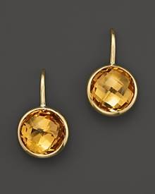 Bloomingdale's Citrine Small Drop Earrings in 14K Yellow Gold - 100% Exclusive
