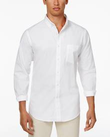 Club Room Men's Solid Oxford Cotton Shirt, Only at Macy's