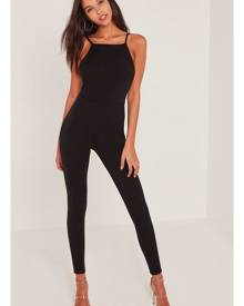 Missguided Crepe Low Back Ankle Grazer Unitard Playsuit