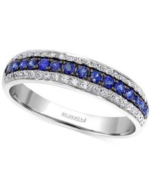 Effy Collection Effy Sapphire (1/5 ct. t.w.) and Diamond (3/8 ct. t.w.) Band in 14k White Gold