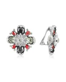 AZ Collection Flower Clip-On Earrings