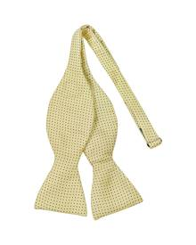 Forzieri Designer Bowties and Cummerbunds, Small Polkadot Self-tie Silk Bowtie