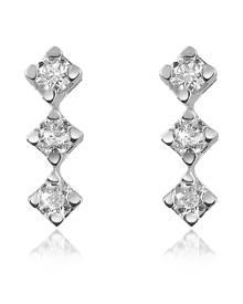 Forzieri Designer Earrings, 0.24 ct Diamond Drop 18K Gold Earrings