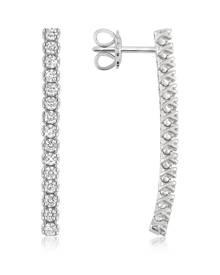 Forzieri Designer Earrings, 1.03 ctw Drop Diamond 18K Gold Earrings