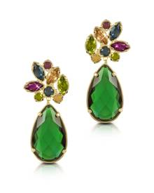 Forzieri Designer Earrings, Crystal Drop Earrings
