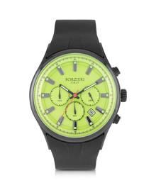 Forzieri Designer Men's Watches, Falcon Chrono Men's Watch w/Rubber Strap