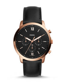 Fossil MEN Neutra Chronograph Black Leather Watch