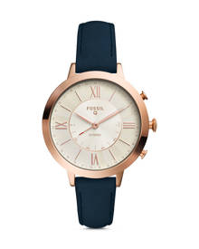 Fossil WOMEN Hybrid Smartwatch – Q Jacqueline Navy Leather