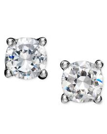 Giani Bernini 18k Gold and Sterling Silver Earrings, Round Cubic Zirconia Studs (1/2 ct. t.w.)