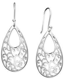 Giani Bernini Sterling Silver Earrings, Open Filigree Drop