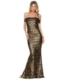 Grace & Hart Grace and Hart - Gold Rush Off The Shoulder Gown