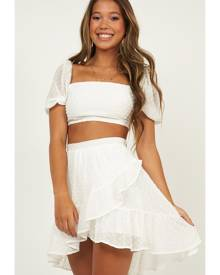 a9461fa299 Showpo Forever Two Piece Set in white dobby Two Piece Sets
