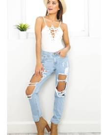 Showpo Django boyfriend jeans in blue-10 (M) Jeans