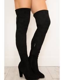 Showpo Therapy Shoes - Ambrose Boots in black micro - 6 Therapy