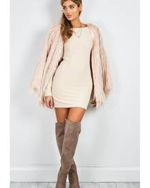 Showpo Faux Real coat in blush - 12 (L) Coats