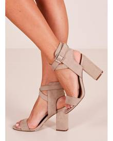 Showpo Therapy - Collins Heels in taupe suede - 5 Therapy
