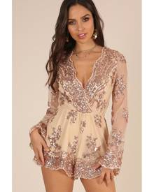 01b26112ef Hello Molly. Showpo On Call playsuit in rose gold sequin - 10 (M) Playsuits