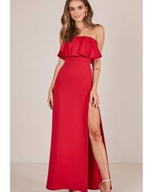 Showpo Poets And Lovers Maxi Dress in Red - 4 (XXS) Occasion Dresses