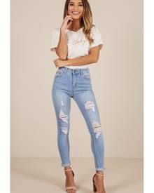 Showpo Patricia skinny jeans in light wash - 10 (M) Jeans