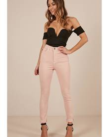 Showpo Sasha skinny jeans in blush - 12 (L) Jeans