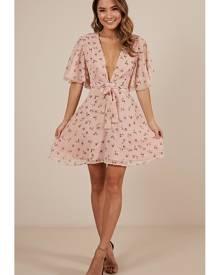 Showpo Blossom Tree dress in blush floral - 6 (XS) Casual Dresses