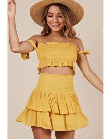 042d4bb5d6 Showpo Sightseeing two piece set in yellow - 10 (M) Two Piece Sets