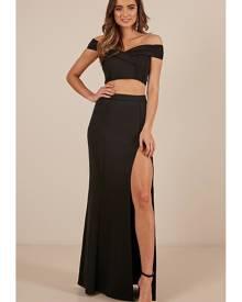 Showpo The Best Around Two Piece Set in black - 16 (XXL) Party Dresses