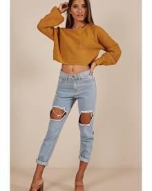 Showpo Living Proof Knit sweater in mustard - 12 (L) Knitwear