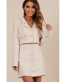 Showpo No Fooling me Blazer in blush tweed - 10 (M) Coats