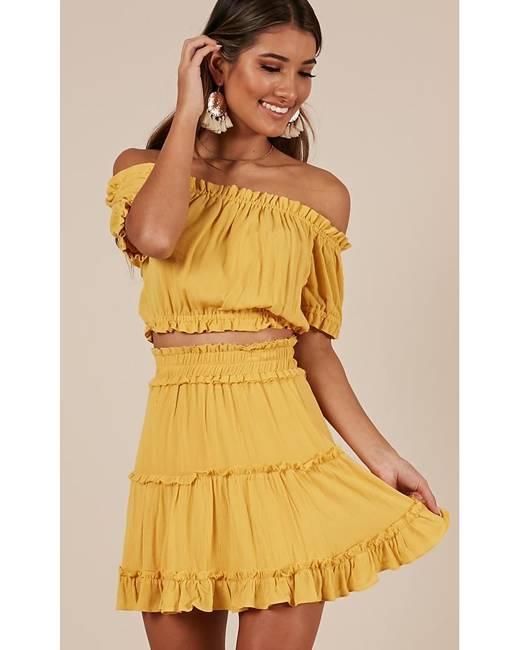 743cf3542bb Yellow Women s Swimwear - Clothing