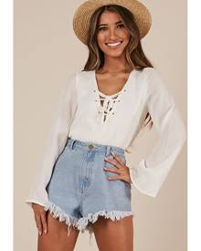 Showpo Relight My Fire Top in white - 10 (M) Long Sleeve