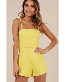 Showpo The Only Exception Playsuit in mango - 16 (XXL) Playsuits &