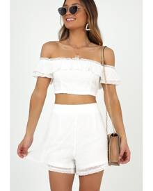 Showpo Healing Hands Two Piece Set in White - 12 (L) Casual Dresses