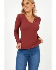 Showpo Feeling Younger knit top in wine - 10 (M) Knitwear