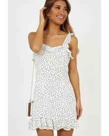 Showpo Imagination Galore dress in white spot Casual Dresses