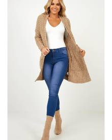 Showpo Back To Earth cardigan in mocha - 10 (M) Cardigans