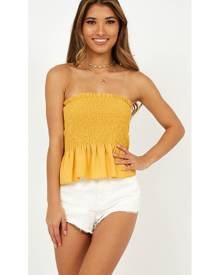 Showpo Girl Undiscovered Top In Mango - 8 (S) Basic Tops