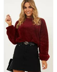 Showpo Feel the wind sweater in wine Cardigans